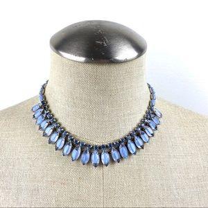 Vintage Choker Style Necklace Periwinkle Blue